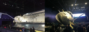 Post conference reception held next to Space Shuttle Atlantis